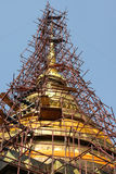 Restoration of Phra That Lampang Luang Royalty Free Stock Images