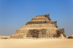 Restoration of the pyramid of Djoser Stock Photography