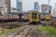 Restoration the railroad tracks Stock Photo