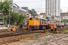 Restoration the railroad tracks Stock Photos