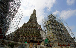 The restoration repairs a temple Wat Arun Royalty Free Stock Image