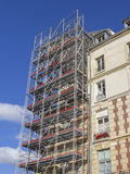 Restoration with scaffold Royalty Free Stock Images