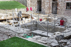 Restoration site Stock Photo