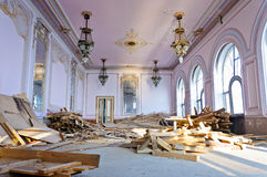 Restoration site old history building Casino Royalty Free Stock Images