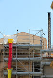 Restoration site with scaffolds. View of a restoration site in palermo, sicily, portrait cut Royalty Free Stock Photo
