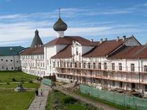 Restoration in Spaso-Preobrazhenskoye the Solovki monastery Stock Images