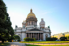 Restoration of St. Isaac`s Cathedral. In St. Petersburg Stock Image