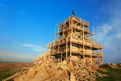 Restoration of tower Royalty Free Stock Photo