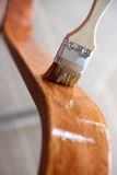 Restoration of wooden chairs Stock Image