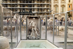 Restoration works at Trevi Fountain Stock Photos