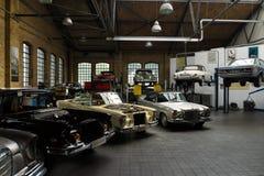 Restoration workshop Mercedes-Benz Stock Image
