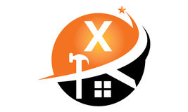 Restorations and Constructions Initial X Stock Photo