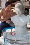 Restore buddhist figure Royalty Free Stock Photos