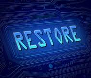Restore concept. Stock Image