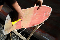 Restore an Old Skateboard Stock Photos