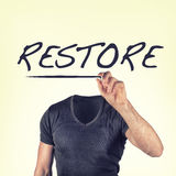 Restore. Picture of a restore concept Stock Photography