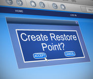 Restore Point concept. Royalty Free Stock Photos