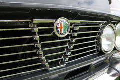 Restored Alfa Romeo Grill and Badge Stock Image