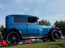 Restored Antique Blue Ford Car Royalty Free Stock Images