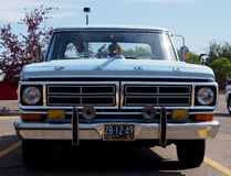 Restored Antique 1972 Blue Ford Pickup Truck Stock Photo