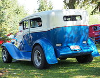 Restored Antique Blue And White Car. With running boards Royalty Free Stock Images