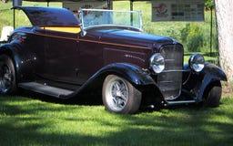 Restored Antique Classic Black Convertible Stock Images