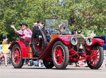 Restored Antique Fire Chief's Car K-Days Parade Royalty Free Stock Image