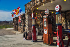Restored antique gas pumps Royalty Free Stock Images