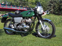 Restored Antique Green Norton Motorcycle Royalty Free Stock Image