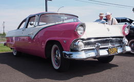 Restored Antique 1955 Pink And White Ford Stock Photos