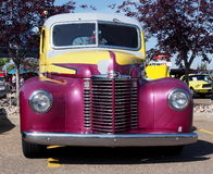 Restored Antique Purple And Yellow Chevrolet Truck Stock Photography