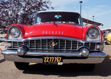 Restored Antique White And Red Packard Royalty Free Stock Photo