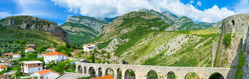 The restored aqueduct Royalty Free Stock Image