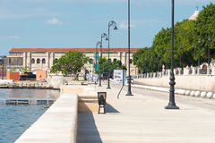 Restored area in Old Havana bordering the bay. View of a recently restored area in Old Havana bordering the bay Royalty Free Stock Images