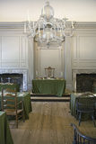 Restored Assembly Room. Independence Hall, Philadelphia, Pennsylvania, one of the meeting places of the Second Continental Congress, where the Declaration of Stock Photography