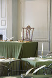 Restored Assembly Room. With Rising Sun Chair of George Washington, Independence Hall, Philadelphia, Pennsylvania, one of the meeting places of the Second Stock Photography