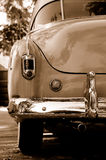 Restored Automobile. In Driveway on Fall Morning Stock Images