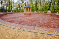 Restored Bosquet Menazheriyny pond in Summer Garden (Letny Sad), Saint Petersburg. Autumn view to restored Bosquet Menazheriyny pond (1720, by Jan Roosen Royalty Free Stock Photo