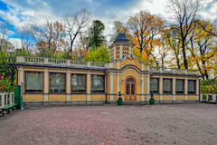Restored Bosquet Poultry (animal) Yard in Summer Garden (Letny Sad), Saint Petersburg. Autumn view to restored in 2011 Bosquet Poultry (animal) Yardin Summer Royalty Free Stock Images