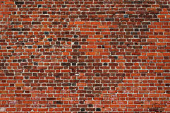 Restored brick wall texture. Old and new bricks. Stock Images