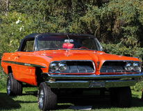 Restored Bright Orange Raised Pontiac Stock Image