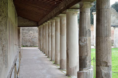 Restored building in the ancient Pompeii Stock Photos