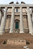 Restored building in the ancient Roman Forum Stock Photography