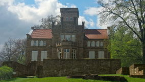 Restored building of a German castle stock video footage