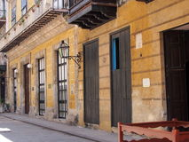 Restored Building In Havana Cuba Royalty Free Stock Photography