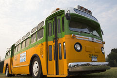 Restored bus Rosa Parks. Sat in December 1, 1955 from Montgomery Alabama on Cleveland Avenue, is seen in  Washington, D.C. National Mall, for the 50th Royalty Free Stock Photo