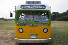 Restored bus Rosa Parks. Sat in December 1, 1955 from Montgomery Alabama on Cleveland Avenue, is seen in  Washington, D.C. National Mall, for the 50th Stock Photo