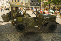 The restored car JEEP WILLYS (Military Police) Royalty Free Stock Photos