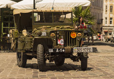 The restored car JEEP WILLYS (Military Police) Royalty Free Stock Photo