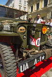 The restored car JEEP WILLYS (Military Police) Stock Image